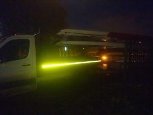 Loaded trailer, off we go